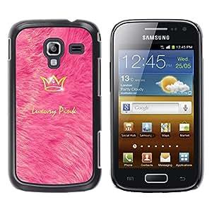 Be Good Phone Accessory // Dura Cáscara cubierta Protectora Caso Carcasa Funda de Protección para Samsung Galaxy Ace 2 I8160 Ace II X S7560M // King Luxury Crown Gold Bling Sparkly