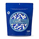 Colored Size 0 Empty Gelatin Capsules by Capsuline - Blue/White 1000 Count