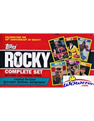 2016 Topps Rocky MASSIVE Complete Factory Sealed 330 Card Set! Celebrates 40th Anniversary & Features Cards from all 6 Films! Look for Rare Sylvester Stallone Autograph Cards worth around $600!