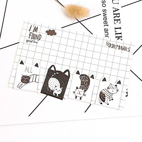 Huertuer 4/pcs Chat mignon magn/étique signets pour les livres lecteurs de marqueurs de livre Cadeau Motif al/éatoire