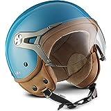 SOXON NTNK N325 Mono · Open-Face-Helmet · Motorcycle Half-Face Jet Pilot Motor-Bike Scooter Biker Retro Chopper Cruiser Vinta