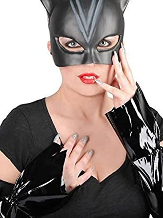 catwoman mask gloves and nails blister kit