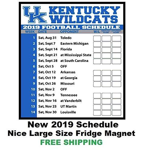 2019 NCAA Kentucky Wildcats Football Schedule Fridge Magnet #145