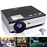 EUG LED Projector Wireless HD 1080p Support WXGA 3500 Lumen LCD Home Video Projector for Outdoor/ Indoor Movie Night, Party and Games PlayStation