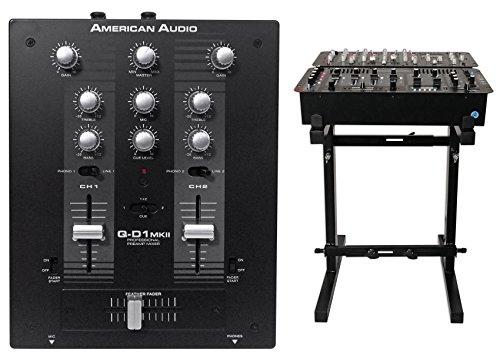 American Audio QD1 MKII 2-Ch Battle-Style Pro DJ Mixer QD1MKII Q-D1MKII+Stand