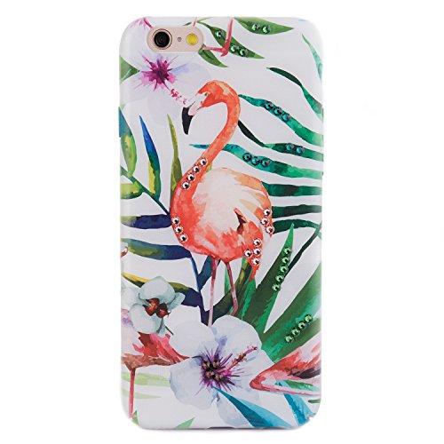 iPhone 6 6s Case, Arktis Luxus Hardcase mit Swarowski Steinen Flamingo Glitter