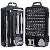 Screwdriver Set, 110-in-1 Precision Screwdriver Repair Tool Kit Magnetic Driver Kit Professional Repair Tool Kit for iPhone X, 8, 7/Cellphone/Computer/Tablet/PC/Electronic etc Black
