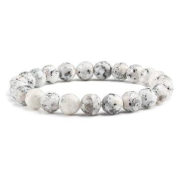 ZKZDSL Pulsera De Piedra,Mate Jade Beads Bracelet Superficie ...
