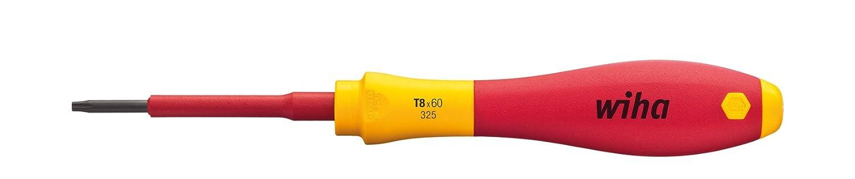 ergonomischer Griff f/ür kraftvolles Drehen T9 x 60 mm  VDE gepr/üft Wiha Schraubendreher SoftFinish/® electric TORX/® 00882 st/ückgepr/üft Allrounder f/ür Elektriker