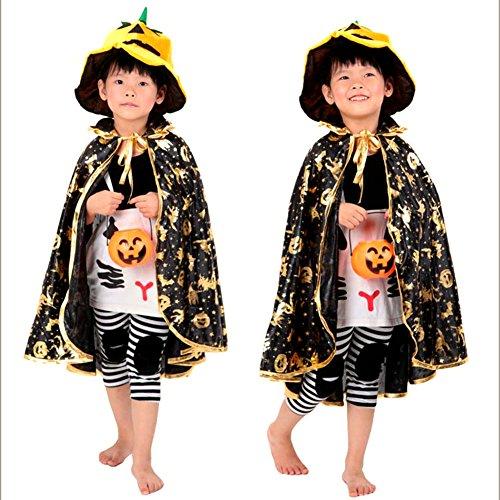 IBLUELOVER Kids Halloween Costume Cloak Wizard Cape Dress up Mantle (Only Cloak) -