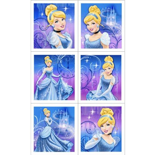 Disney Cinderella Sparkle Sticker Sheets (4 count) Party (Disney Cinderella Stickers)