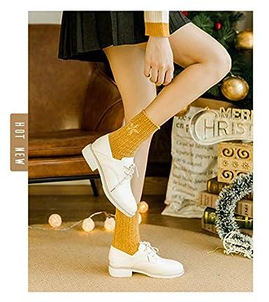 Morbuy Mujer Algodón Calcetines de Navidad, Bordado Set de Calcetín de 3 pares Caja De Regalo Para Invierno Calcetines Suaves del día de Fiesta de las ...