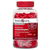 Basic Care Rapid Release Acetaminophen Caplets, 400 Count