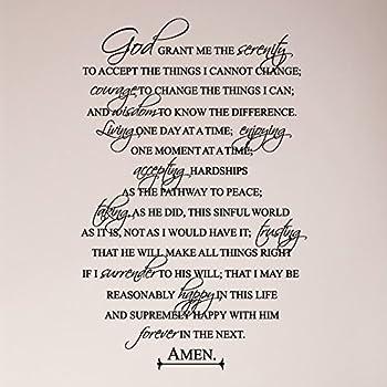 Amazon Com Serenity Prayer Full Prayer Religious Faith