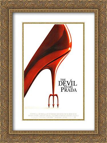 (The Devil Wears Prada 20x24 Double Matted Gold Ornate Framed Movie Poster Art Print)