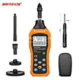 NKTECH MS6208A+ Digital Tachometer Contact Type 50-19999 RPM Air Flow Anemometer Wind Rotation Speed Meter 5 Kinds of Speed Unit Accessories 100 Groups Data Logging Data Hold Tester