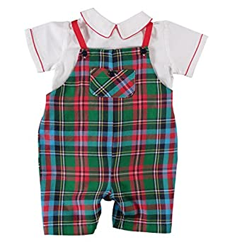 Kids 1950s Clothing & Costumes: Girls, Boys, Toddlers Baby Boys Holiday 2 Piece Shortall $53.00 AT vintagedancer.com