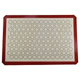"""Amourchef Silicone Baking Mat Size 15.7"""" x 23.6"""" for Macarons, Coffee, Reusable Non-Stick Liner for Bake Pan, Rolling Mat, Cookies Sheet, Pizza Dough"""