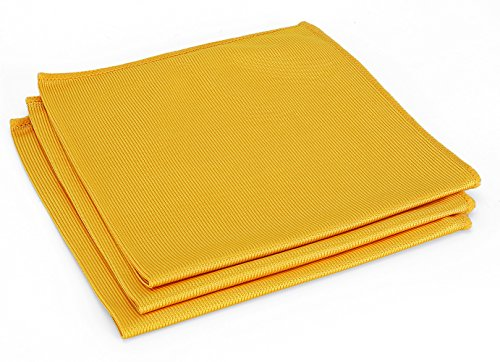 COMFIT Microfiber Cleaning Cloths 16 x 16 for Polishing Stainless Steel Kitchen Appliances & Streak Free Glass 3pk