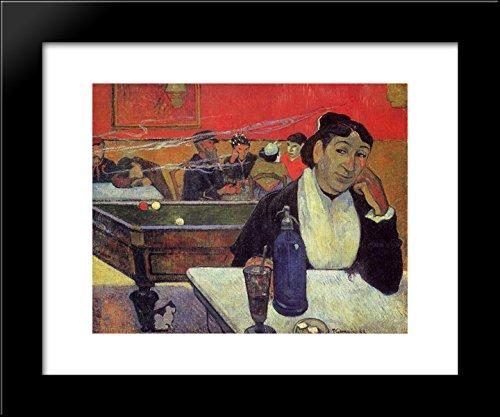 Gauguin Cafe Night - Night café, Arles 20x24 Framed Art Print by Paul Gauguin