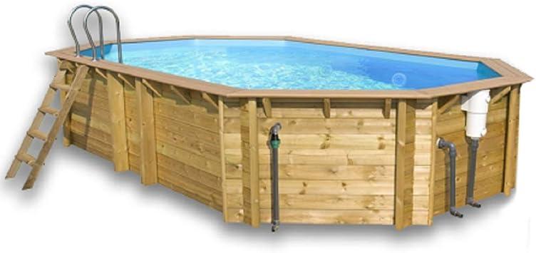 Piscina elevada de madera para jardín, modelo 607: Amazon.es: Jardín