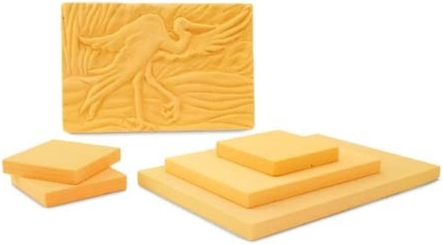 Sculpture Block Sculpture Canvas 12 x 9 x 1 inches Polyurethane Foam Board