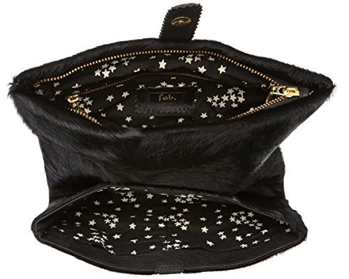 Fab by Fabienne New york clutch - Bolso Black hairy