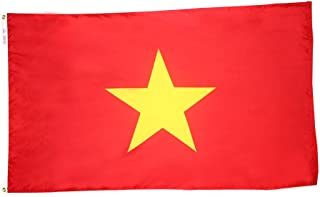 product image for Annin Flagmakers Model 199234 Vietnam Flag 3x5 ft. Nylon SolarGuard Nyl-Glo 100% Made in USA to Official United Nations Design Specifications.