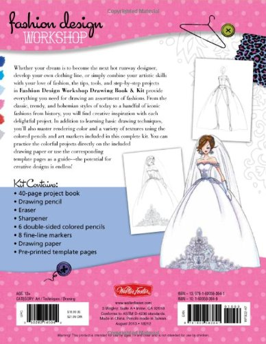 Fashion Design Workshop Drawing Book Kit Includes Everything You Need To Get Started Drawing Your Own Fashions Walter Foster Studio Corfee Stephanie 9781600583841 Amazon Com Books