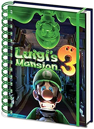 LuigiS Mansion 3 - Cuaderno A5 Espiral Gooigi: Amazon.es: Hogar
