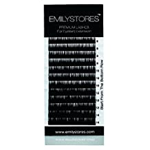 EMILYSTORES Eyelash Extensions Individual Loose Signature Mink Eyelash C Curl Thickness 0.25mm Length 8mm 9mm 10mm 12mm 14mm Silk Lashes Assort Mixed In One Tray