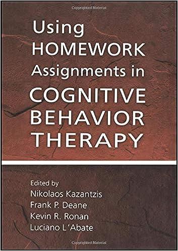 cognitive behavioral homework assignments