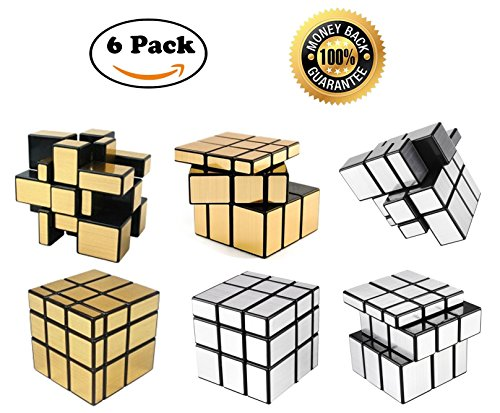 Pack Mirror Speed Cubes Silver