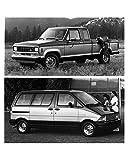 1986 Ford Ranger SuperCab Pickup and Aerostar Wagon Factory Photo