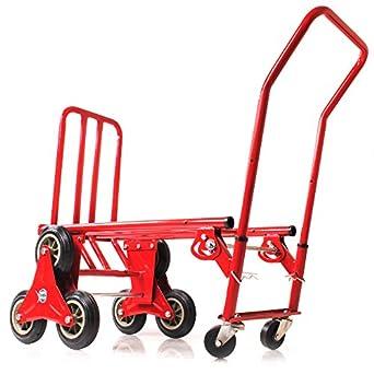 120 kg resistente 6 rueda subir escaleras gato carretilla carro carretilla: Amazon.es: Amazon.es