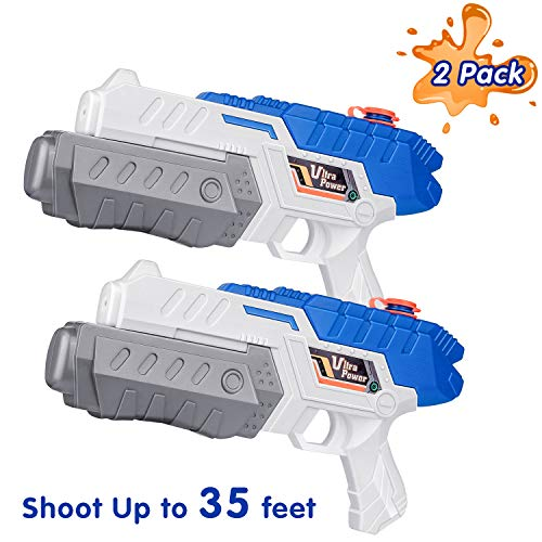 Gamenote 2 Pack Super Water Gun Soaker for Kids Adults - High Capacity Blaster Water Squirt Guns Swimming Beach Pool Toys (Up to 35ft)
