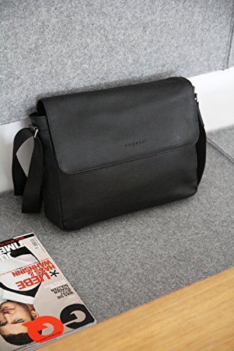 Citta sac pour sac cuir hommes élégant messenger noir véritable besace bugatti besace en messenger g1aaw