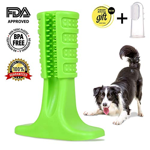 Hinrylife Dog Toothbrush Toy Brushing Stick for Small and Medium-Sized Breed, Dog Teeth Cleaning Massager Nontoxic Natural Rubber Dog Toothbrush chew Toy for Pet Dog