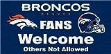 Denver Broncos Wood Sign - Fans Welcome 12''x6''