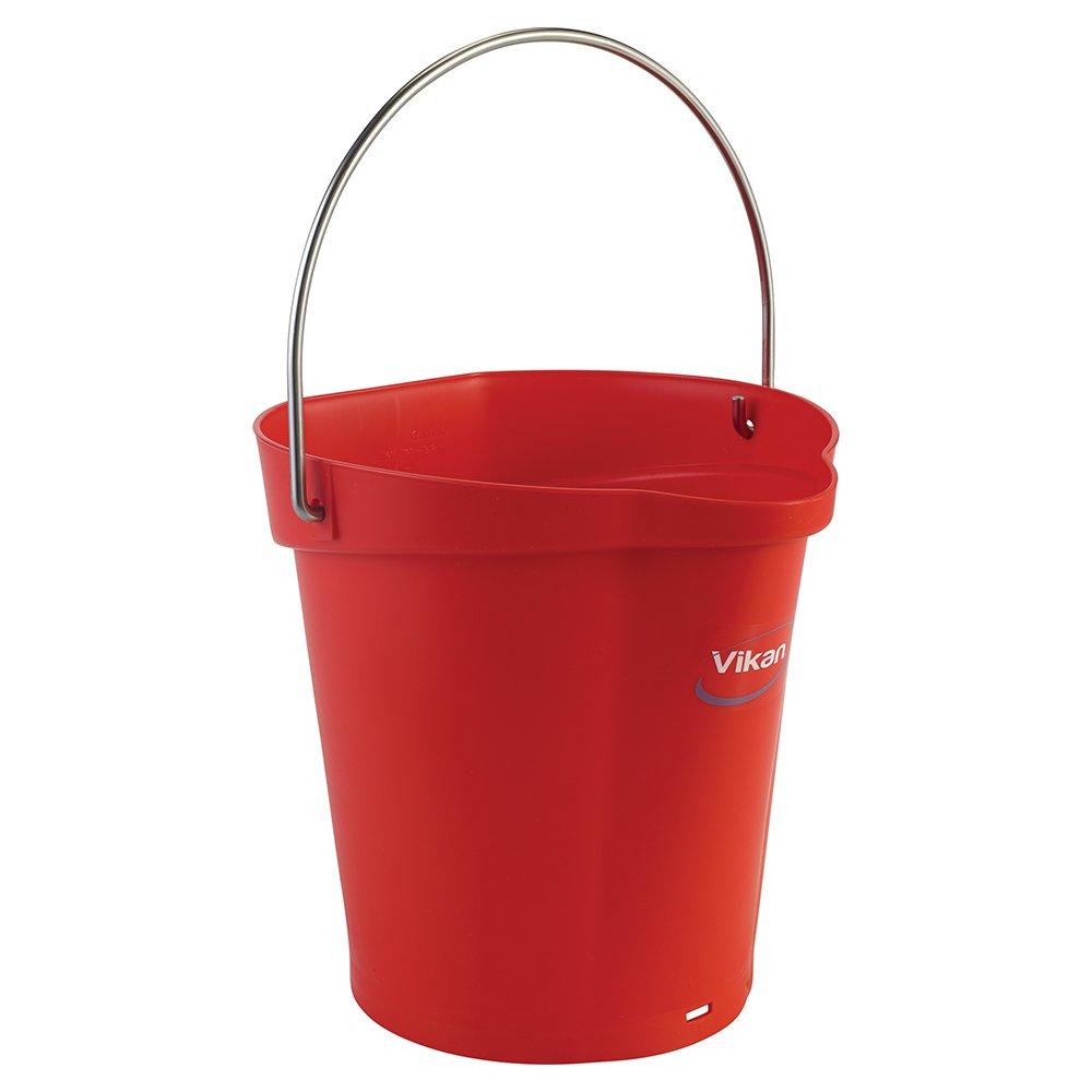 Vikan Polypropylene Red 1.5 Gallon Pail