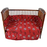 South Carolina Gamecocks 5 Piece Crib Set - Entire Set includes: (1) Reversible Comforter, (1) Bed Skirt , (2) Fitted Sheets and (1) Bumper Pad - Decorate Your Nursery and Save Big By Bundling!