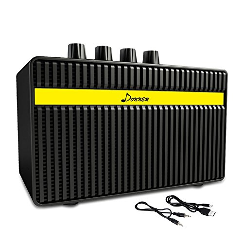Donner Guitar AMP 3W Rechargeable Mini Electric Amplifier (Best Clean Practice Amp)