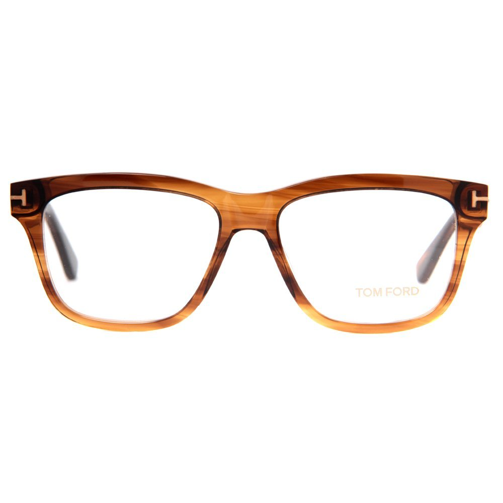 TOM FORD Eyeglasses FT5372 048 Shiny Dark Brown