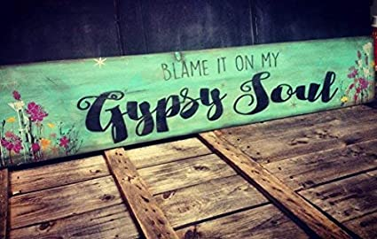 Amazoncom Weewen Blame It On My Gypsy Soul Custom Large Plank With