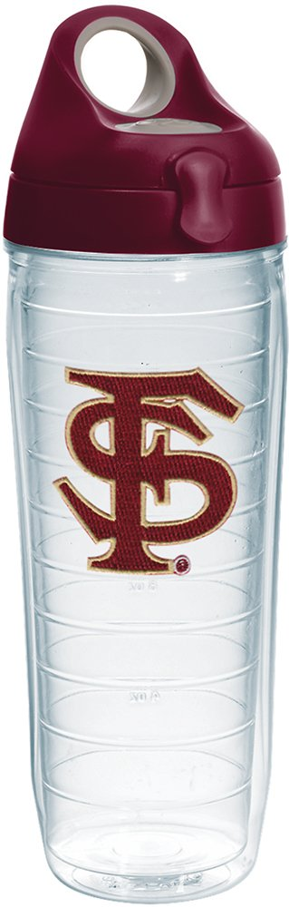 Tervis 1230657 Florida State Seminoles Insulated Tumbler with Emblem and Maroon Lid 24oz Water Bottle Clear