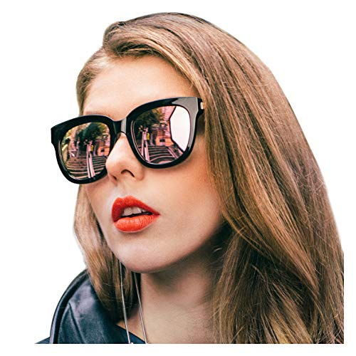SIPHEW Mirrored Sunglasses for Women/Men Polarized with 100% UV400 Protection-Oversized Sun Glasses ()