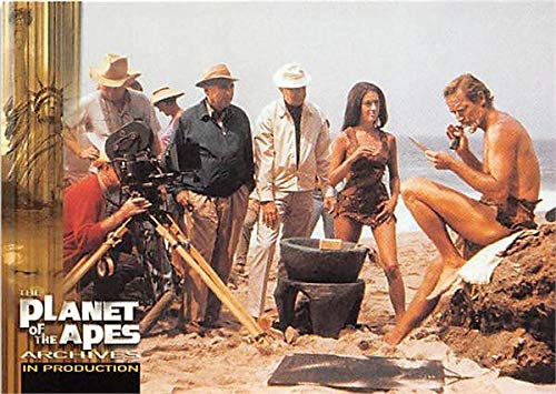 Planet of the Apes Archives trading card 1999#84 Behind the Scenes Taylor Nova Charlton Heston Linda Harrison