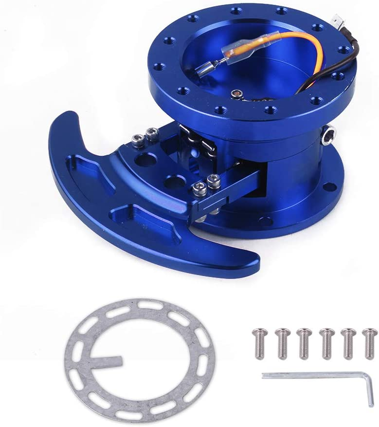 RASTP Racing Steering Wheel Quick Release Hub Kit Adapter Body Removable Snap Off Boss Kit,Purple