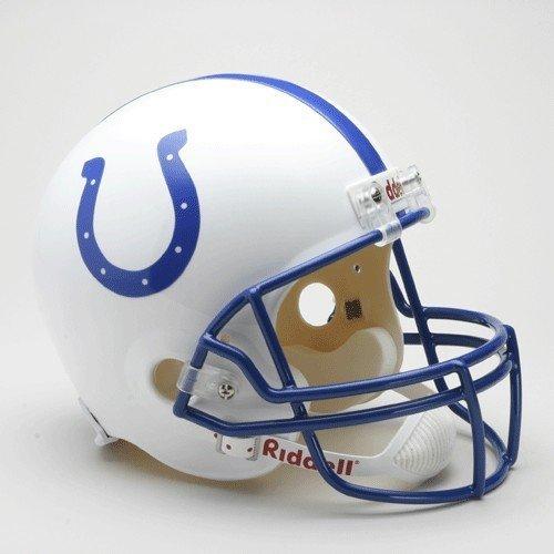 Helmet Football 1999 - Indianapolis Colts 1995-2003 Throwback Riddell Deluxe Replica Helmet - Licensed NFL Football Merchandise