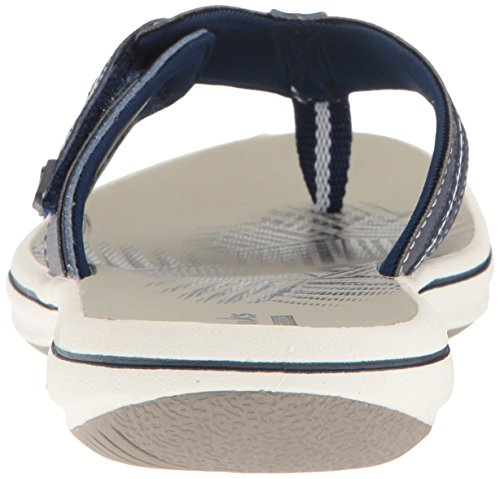 Clarks Brinkley Jazz Thong Sandale Navy synthetic